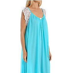 Amanda Rich Lace Cap Sleeve Ankle Length Nightgown 105