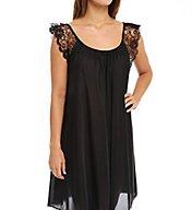 Amanda Rich Lace Cap Sleeve Knee Length Nightgown 106