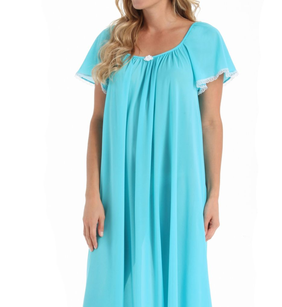Amanda Rich Short Sleeve Ankle Length Nightgown 145