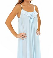 Amanda Rich Lace Trim Ankle Length Nightgown 164