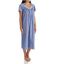 Aria Blue Charm Short Sleeve Ballet Long Nightgown 8217812