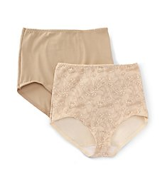 Bali Light Control Stretch Cotton Brief Panty - 2 Pack X037