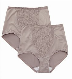 Bali Lace Tummy Panel Shaping Brief Panty - 2 Pack X372