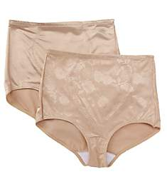 Bali Firm Control Tummy Panel Brief Panty - 2 Pack X710