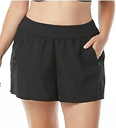 Beach House Woman Paloma Beach April Stretch Woven Plus Swim Short HW58102