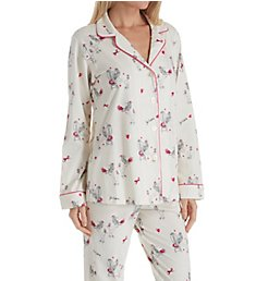 BedHead Pajamas French Poodle Long Sleeve Long Notch PJ 1002SL7
