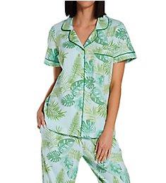 BedHead Pajamas Island Palm Classic Cropped PJ Set 272129I