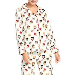 BedHead Pajamas Classy Cats Long Sleeve PJ Set 292123C
