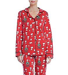 BedHead Pajamas Snoopy Christmas Long Sleeve PJ Set 292123S