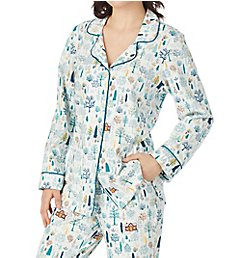 BedHead Pajamas Cabin in the Woods Long Sleeve Classic PJ Set 292125W