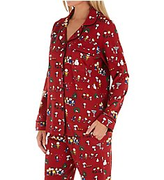 BedHead Pajamas Peanuts Winter Fun Organic Cotton PJ Set 2923808