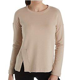 Beyond Yoga Sedona Cozy Fleece Wide Hem Pullover Top CF7513
