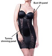 Body Hush Glamour Slenderizing Torsette Slip with Lace BH1502L