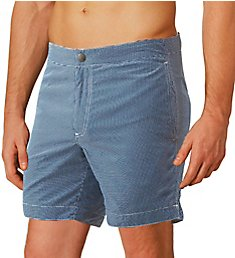 Boto Aruba Tailored Fit Microcheck 6.5 Inch Swim Trunk 31413
