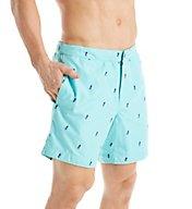 Boto Aruba Tailored Fit Pineapple 6.5 Inch Swim Trunk 31422