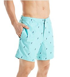 Boto Aruba Tailored Fit Pineapple 6.5 Inch Swim Trunk 31422