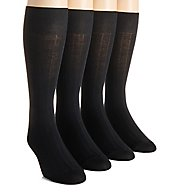 Calvin Klein Solid Ribbed Dress Crew Socks - 4 Pack ACP197