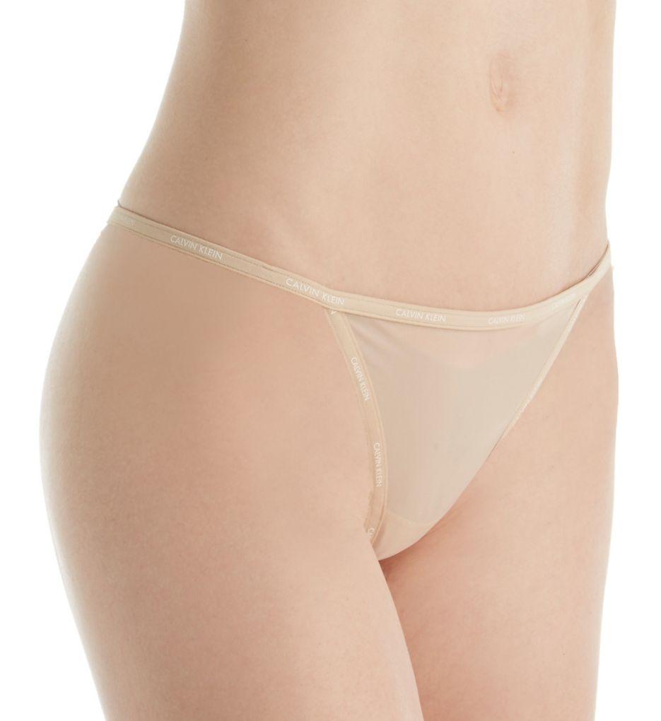 Calvin Klein Sheer Marquisette String Thong QF1681