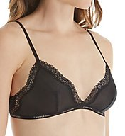 Calvin Klein Sheer Marquisette with Lace Unlined Triangle Bra QF1842