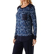 Carole Hochman Midnight In the Moment Long Sleeve Pajama Set 1391255F