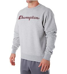Champion Graphic Powerblend Fleece Crew with Applique GF88H-2