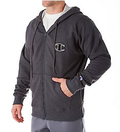 Champion Graphic Powerblend Full Zip Fleece Hoodie GF91H-2