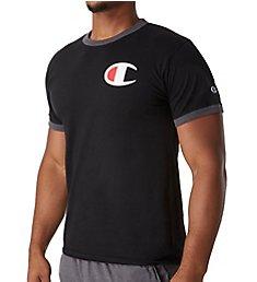 "Champion Classic Jersey Big ""C"" Logo Ringer T-Shirt GT20H-C"