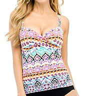 Christina Andes Delight Crossover Cami Tankini Swim Top AD6085
