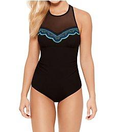 Christina Sea Cove High Neck One Piece Swimsuit SE6018