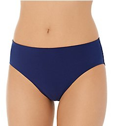 Christina Solid Semi High Waist Brief Swim Bottom ZZ3048