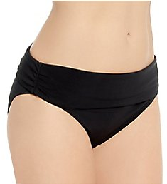 Christina Solid Transformable High Waist Brief Swim Bottom ZZ3248
