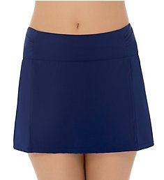 Christina Solid Skirted Brief Swim Bottom ZZ6048