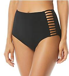 Coco Reef Classic Solids Strappy Hi Waist Brief Swim Bottom U95230