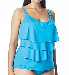Coco Reef Plus Underwire Ruffle Tankini Swim Top UX8266