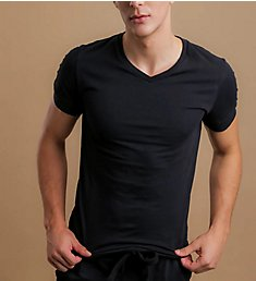 Cottonique Latex Free Organic Cotton V-Neck T-Shirt M17721
