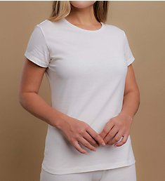 Cottonique Round Neck Cap Sleeve Shirt W12210
