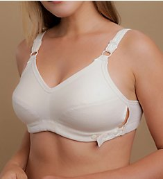 Cottonique Latex Free Organic Cotton Adjustable Slimfit Bra W12214