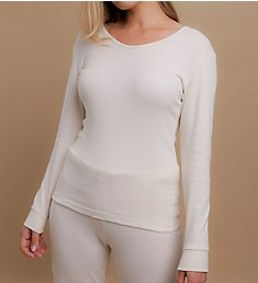 Cottonique Long Sleeve Ribbed Tee W12272