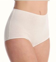 Cuddl Duds Lorraine Cotton Full Brief with Picot Trim Panty LR101