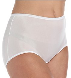 Cuddl Duds Lorraine Nylon Full Brief Panty With Picot Trim LR103