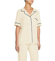 Eberjey Gisele Short Sleeve and Pant PJ Set PJ1018Z