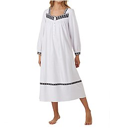 Eileen West Embroidered Flannel Ballet Nightgown 5219827