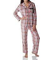Ellen Tracy Essential Velour Long Sleeve Pajama Set 8718558