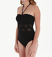 Empreinte Sublime Chevron Inset Bandeau One Piece Swimsuit PW-SUB