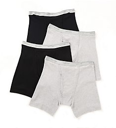 Fruit Of The Loom Big Man Core 100% Cotton Boxer Briefs - 4 Pack 4BB761X