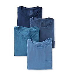 Fruit Of The Loom Assorted Cotton Fashion Pocket T-Shirts - 4 Pack 4P3002C