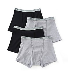 Fruit Of The Loom Big Man Cotton Short Leg Boxer Briefs - 4 Pack 4SL761X