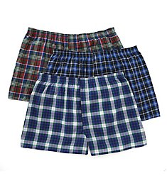Fruit Of The Loom Big Man's Assorted Tartan Woven Boxers - 3 Pack 590XBM