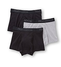 Fruit Of The Loom Breathable Short Leg Boxer Briefs - 3 Pack BM3TK76