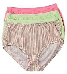 Hanes Cotton Brief Panties - 3 Pack D40L